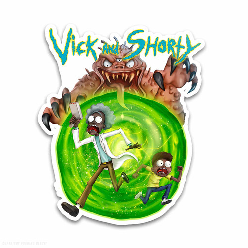 Vick and Shorty Weatherproof Vinyl Decal