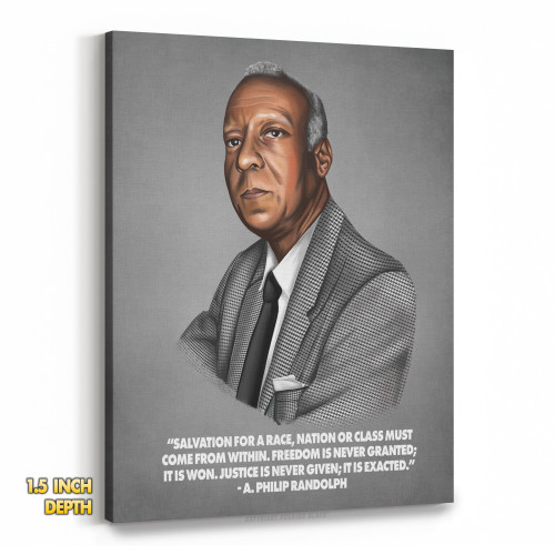 A. Philip Randolph - Salvation Comes From Within Premium Wall Canvas