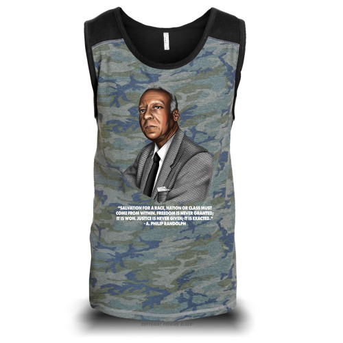 A. Philip Randolph - Salvation Comes From Within Unisex Raglan Tank Top