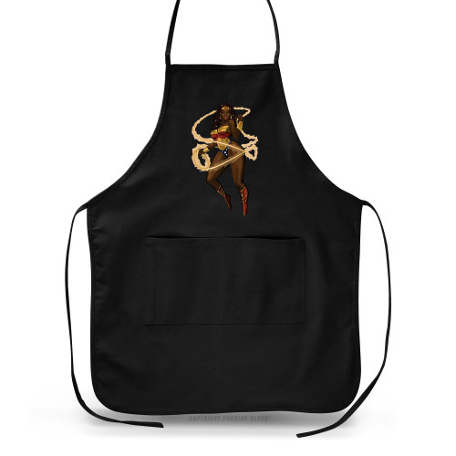 Black Woman of Wonder with Lasso of Truth Apron
