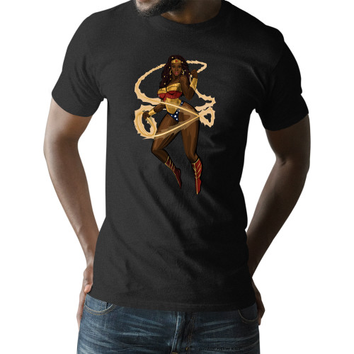 Black Woman of Wonder with Lasso of Truth Unisex T-Shirt