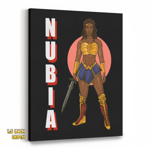 Nubia with Sword Premium Wall Canvas