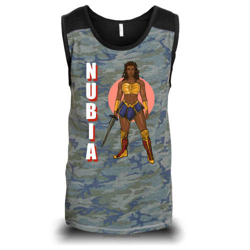 Nubia with Sword Unisex Raglan Tank Top