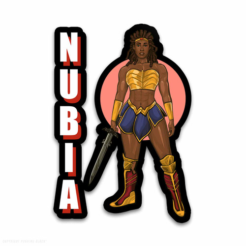 Nubia with Sword Weatherproof Vinyl Decal