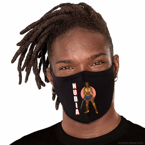 Nubia with Sword Washable Face Mask