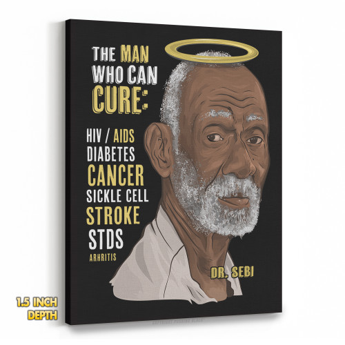 Dr. Sebi - The Man Who Can Cure Premium Wall Canvas