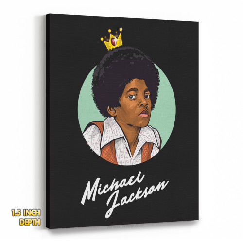 Michael Jackson The King of Pop Premium Wall Canvas