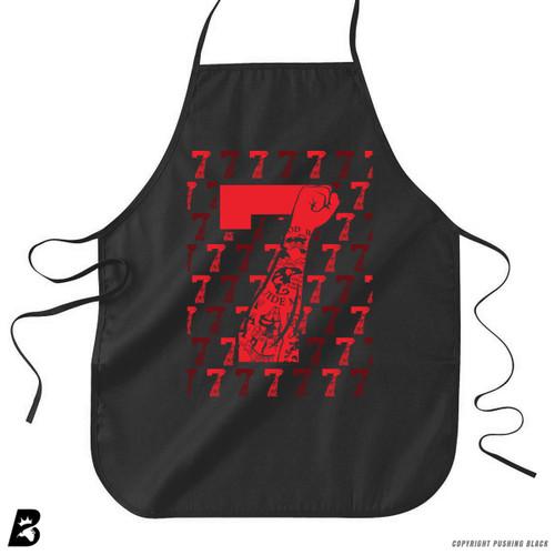 'Red Tattooed 7 Fist with Background (IMWITHKAP)' Premium Canvas Kitchen Apron