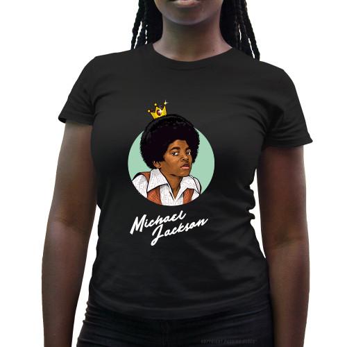 Michael Jackson The King of Pop Ladies T-Shirt