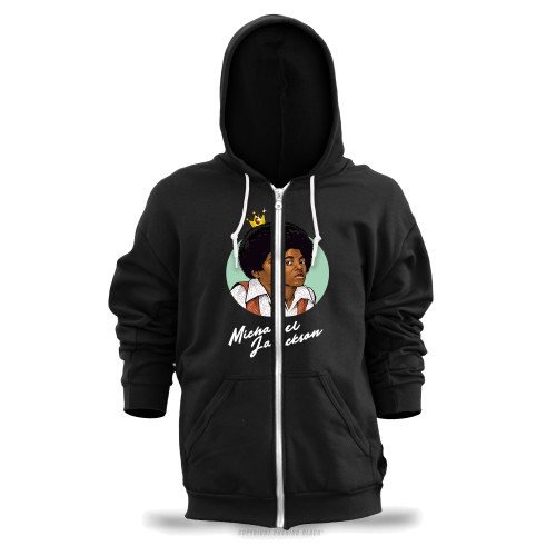 Michael Jackson The King of Pop Unisex Zipper Hoodie