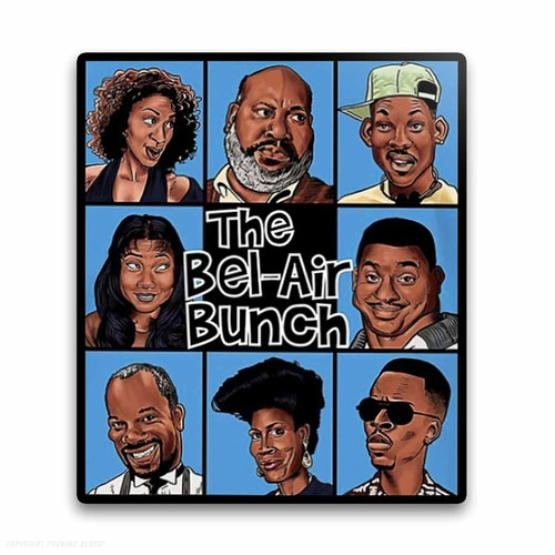 The Bel-Air Bunch Weatherproof Vinyl Decal