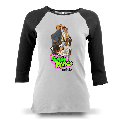 The Fresh Prince of Bel-Air Ladies Raglan Long Sleeve