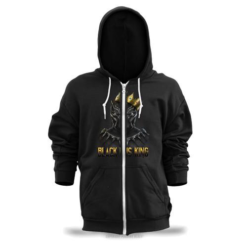 Black is King - Black Panther Unisex Zipper Hoodie