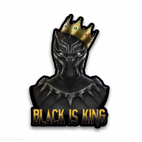 Black is King - Black Panther Weatherproof Vinyl Decal