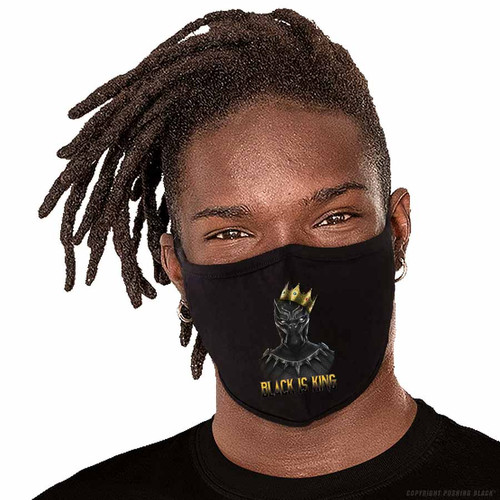 Black is King - Black Panther Washable Face Mask