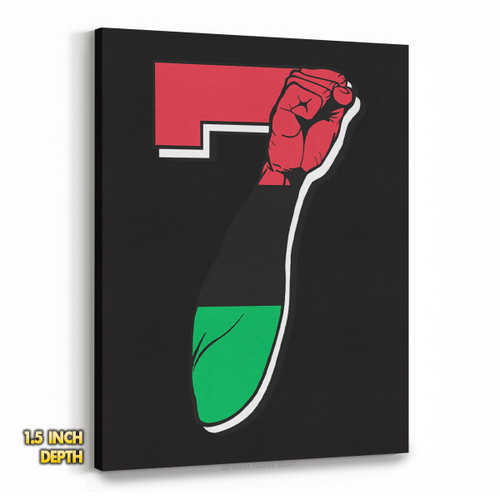 7 Garvey Fist Up - Colin Kaepernick Premium Wall Canvas