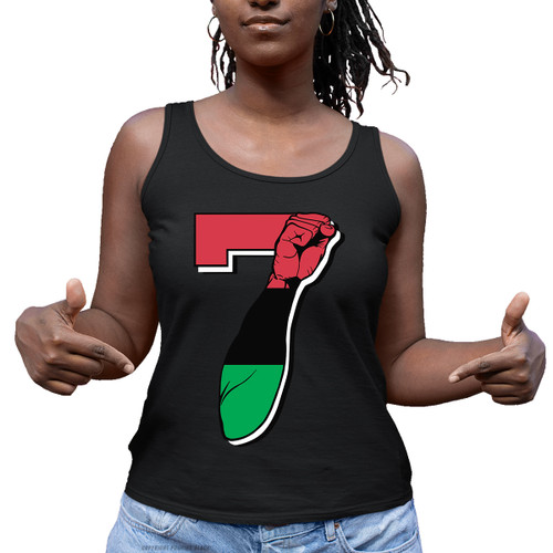 7 Garvey Fist Up - Colin Kaepernick Ladies Tank Top