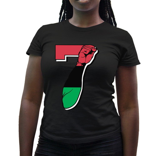 7 Garvey Fist Up - Colin Kaepernick Ladies T-Shirt