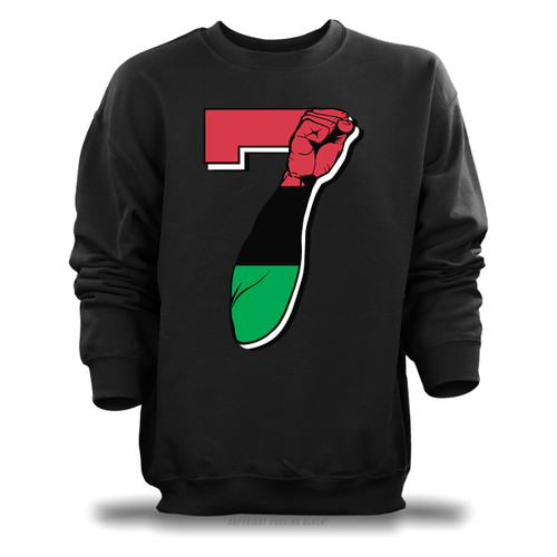 7 Garvey Fist Up - Colin Kaepernick Unisex Sweatshirt