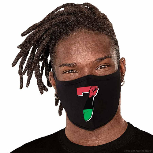 7 Garvey Fist Up - Colin Kaepernick Washable Face Mask