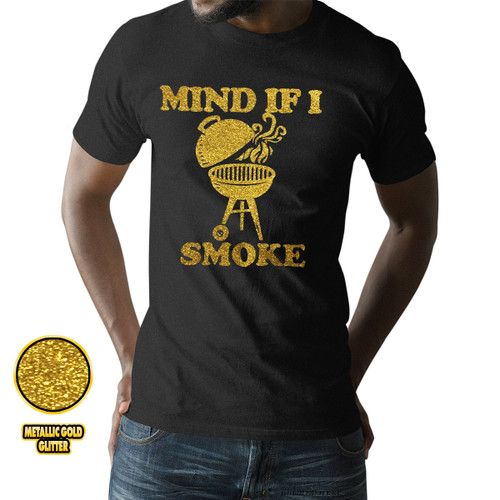 Mind If I Smoke - Golden Glitter Unisex T-Shirt
