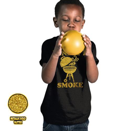 Mind If I Smoke - Golden Glitter Youth T-Shirt