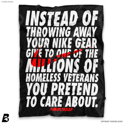 ''Colin Kaepernick - Instead of Throwing Away Your Nike Gear' Soft Fleece Blanket Throw