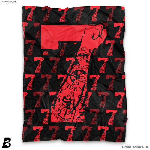 ''Colin Kaepernick with Red Tattooed 7 Fists ' Soft Fleece Blanket Throw