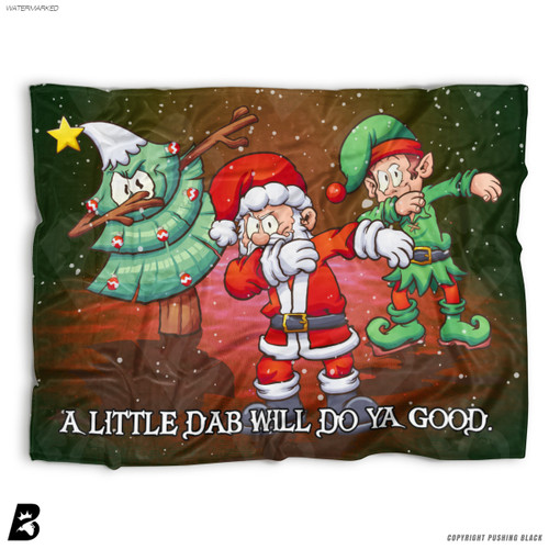 ''A Little Dab Will Do Ya' Christmas' Soft Fleece Blanket Throw