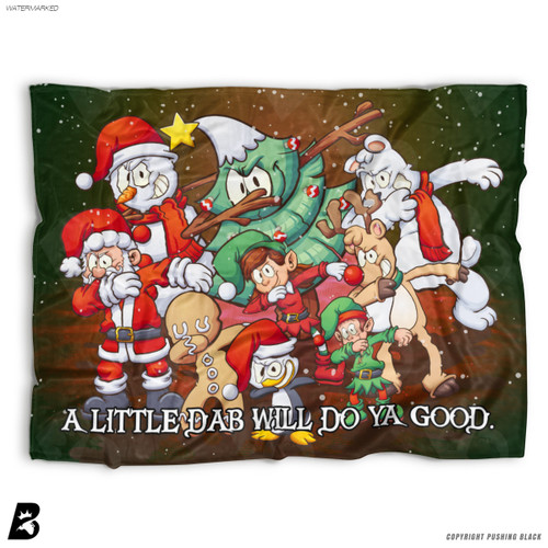 ''A Little Dab Will Do Ya' Christmas Dabbing' Soft Fleece Blanket Throw