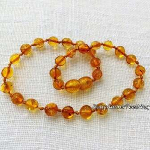 """Honey amber"" necklace"