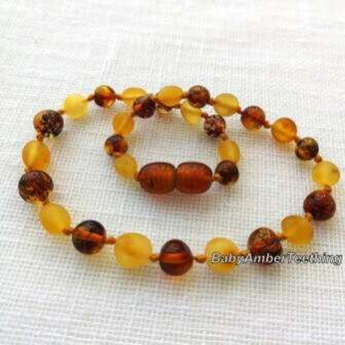 """Cognac inside cognac"" amber necklace"