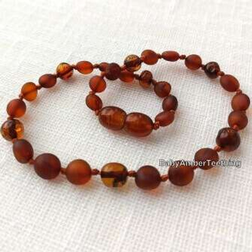 """Drops"" amber necklace"