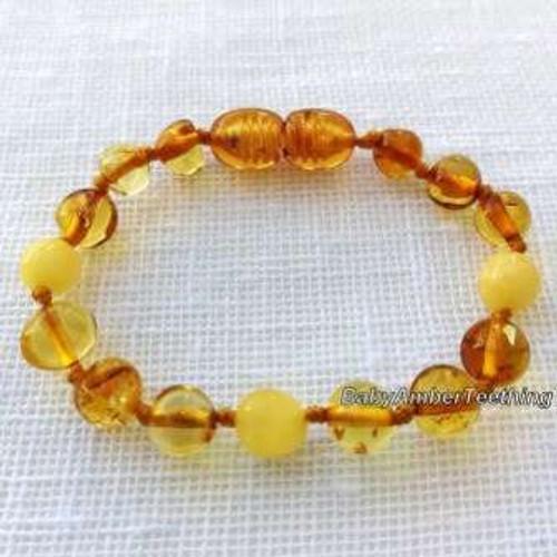 """Amber beads"" baby bracelet"