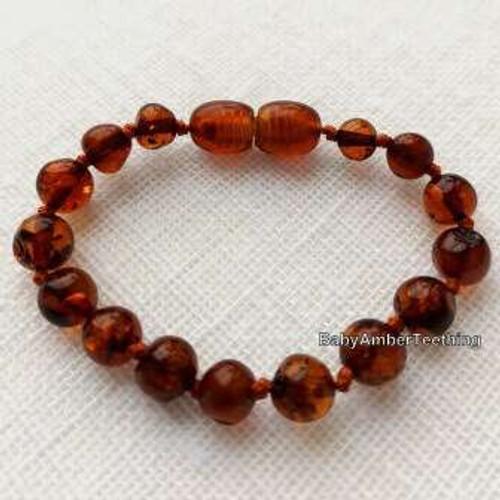 """""""Beads"""" amber baby bracelet/anklet"""