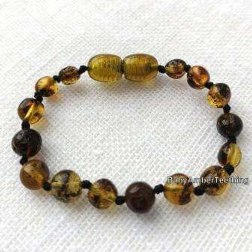"""Light green amber"" bracelet/anklet"