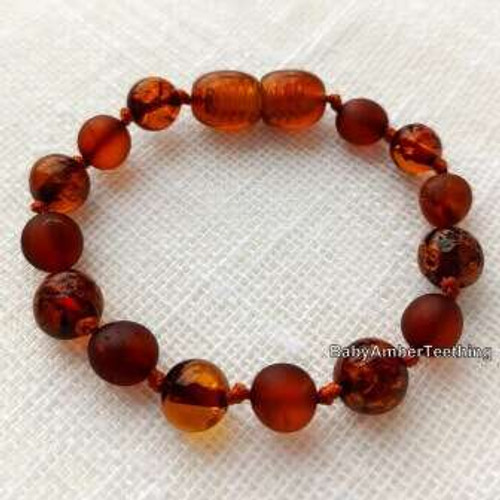 """Small"" amber baby bracelet/anklet"