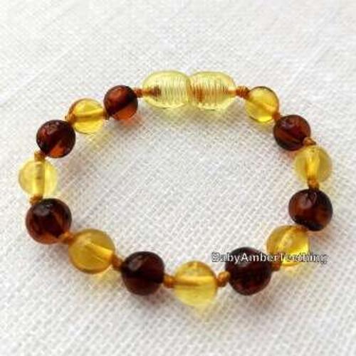 Cherry - lemon amber bracelet/anklet