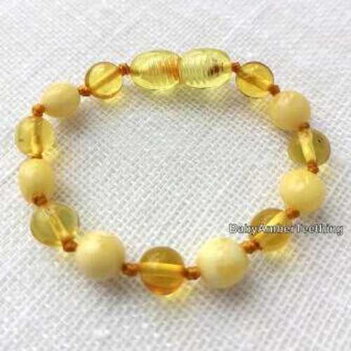 Lemon & white bracelet/anklet