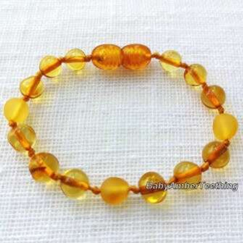 """Lemon raw and polished"" bracelet"