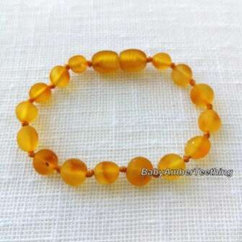 ''Honey round'' raw bracelet/anklet
