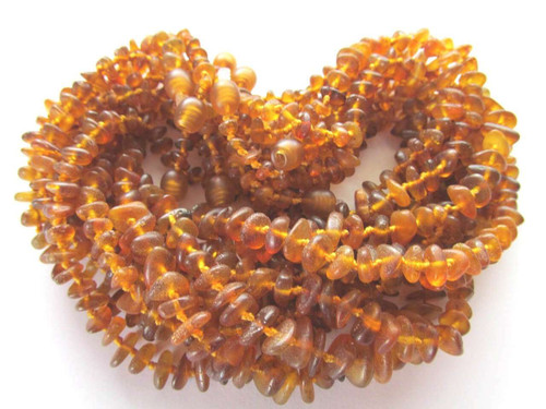 ''Raw honey'' 10 amber necklaces for babies