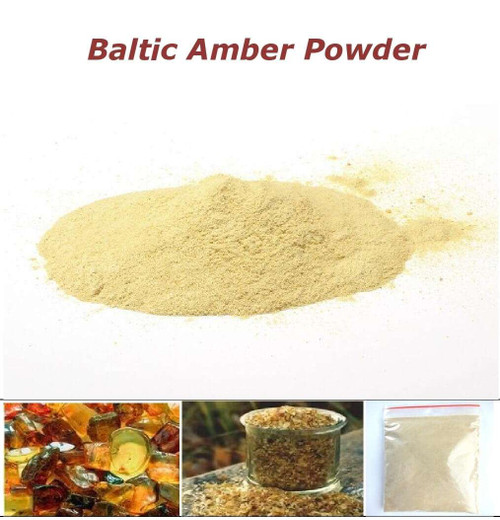 Baltic amber powder 50g for peeling and massage