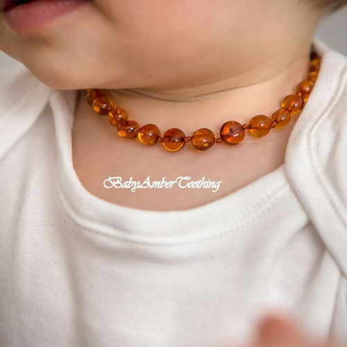 "Necklace baby ""cognac amber"""