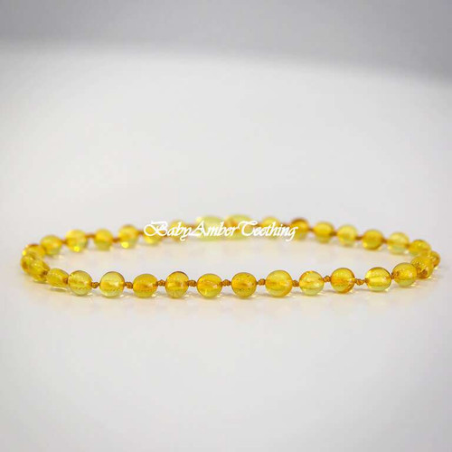 "Necklace baby ""lemon amber"""