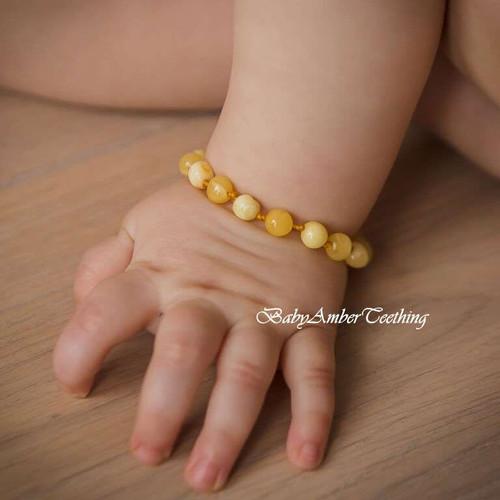 """Baby bracelet """"butterscotch amber"""""""