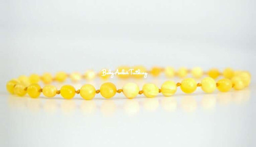 "Amber baby necklace ""butterscotch"""