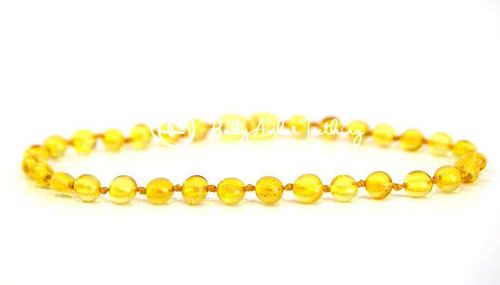 "Amber baby necklace ""lemon"""