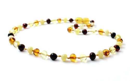 "Amber baby necklace ""multi"""