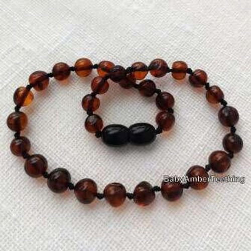 """Baby cherry"" amber necklace"